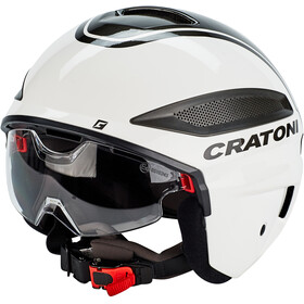 Cratoni Vigor Casque S-Pedalec, white/glossy anthracite